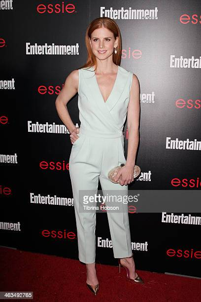 Sarah Rafferty attends the Entertainment Weekly SAG Awards preparty at Chateau Marmont on January 17 2014 in Los Angeles California