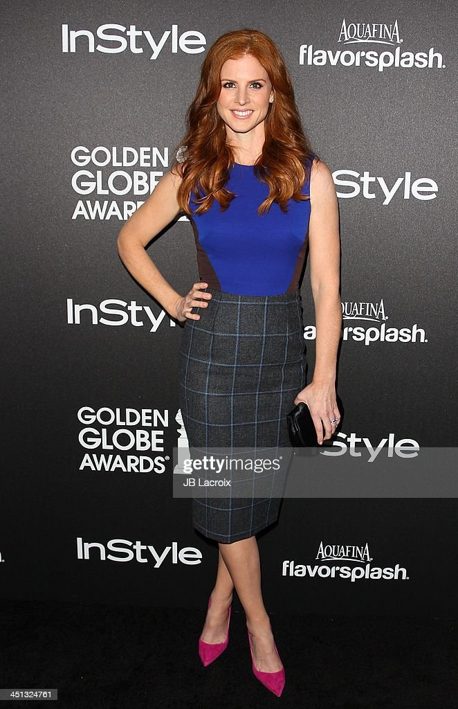 Sarah Rafferty attends The Hollywood Foreign Press Association (HFPA) And InStyle 2014 Miss Golden Globe Announcement/Celebration at Fig & Olive Melrose Place on November 21, 2013 in West Hollywood, California.