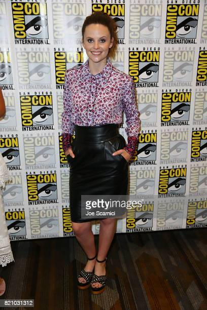 Sarah Ramos arrives at the 'Midnight Texas' press line at ComicCon International 2017 on July 22 2017 in San Diego California