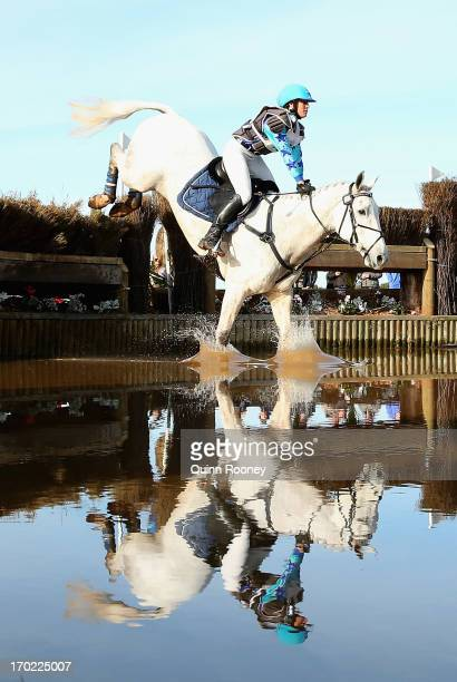 Sarah Ray of Australia riding Irish Mist competes in the Cross Country during the Melbourne International Three Day Event at Werribee Park Mansion...