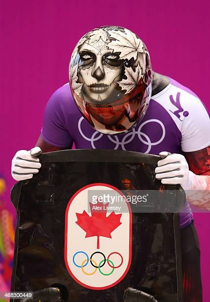 Sarah Reid of Canada prepares to make a run during a Women's Skeleton training session on Day 3 of the Sochi 2014 Winter Olympics at the Sanki...