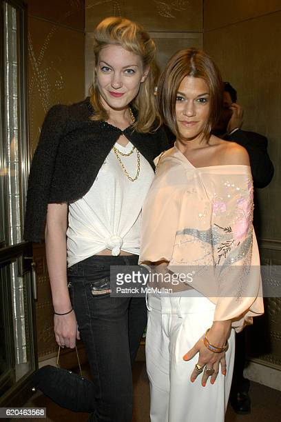 Sarah Robinson and Jenne Lombardo attend VAN CLEEF AND ARPELS and Quintessentially present Erin Fetherstons Holiday Resort 2008 Collection at Van...