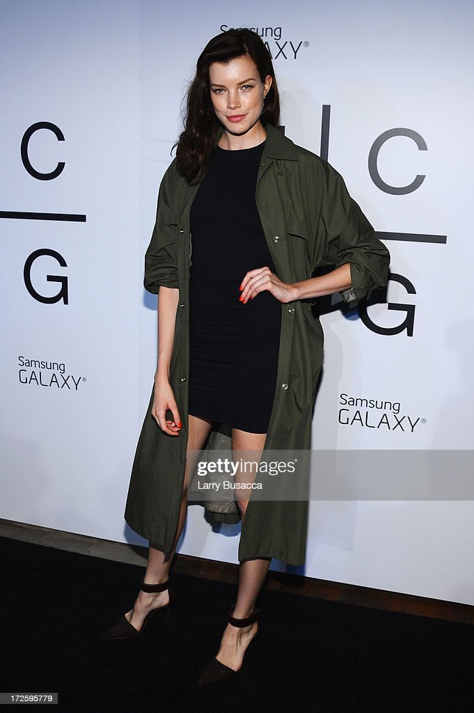 Sarah Ruba attends JAY Z and Samsung Mobile's celebration of the Magna Carta Holy Grail album, available now through a customized app in Google Play and Samsung Apps exclusively for Samsung Galaxy S 4, Galaxy S III and Note II users on July 3, 2013 in Brooklyn City.
