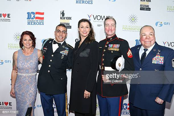Sarah Rudder Michael Kacer Bridget Moynahan Aaron Mankin and Israel Del Toro attend The New York Comedy Festival and The Bob Woodruff Foundation...