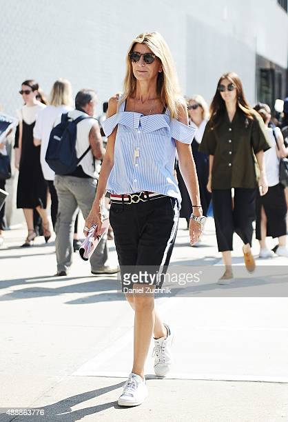 Sarah Rutson is seen outside the Calvin Klein show during New York Fashion Week 2016 on September 17 2015 in New York City