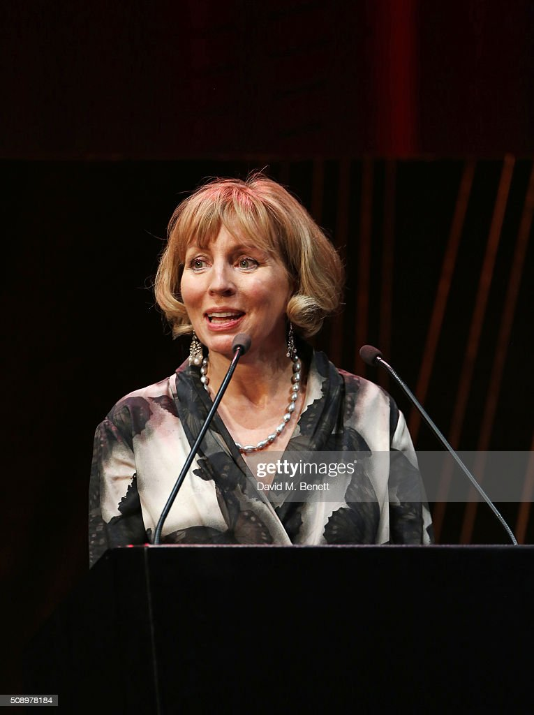Sarah Sands, editor of the London Evening Standards, speaks onstage at the London Evening Standard British Film Awards at Television Centre on February 7, 2016 in London, England.