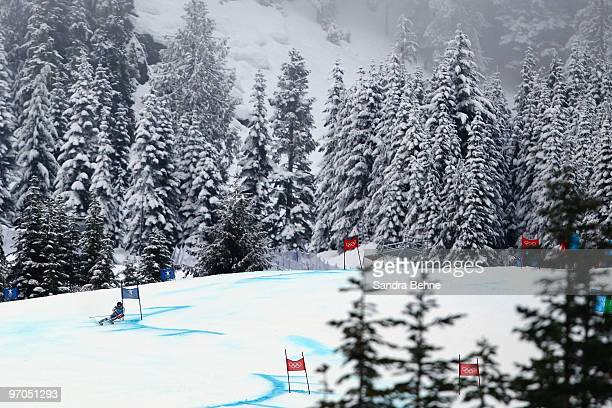 Sarah Schleper of the United States competes during the Ladies Giant Slalom second run on day 14 of the Vancouver 2010 Winter Olympics at Whistler...