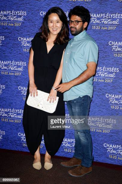 Sarah Seulki Oh and Iesh Thapar attend Closing Ceremony of 6th Champs Elysees Film Festival on June 22 2017 in Paris France