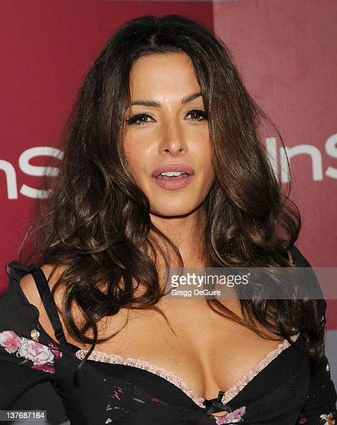 Sarah Shahi arrive sat the 12th Annual Warner Bros and Instyle PostGolden Globe Party at the Beverly Hilton Hotel on January 16 2011 in Beverly Hills...