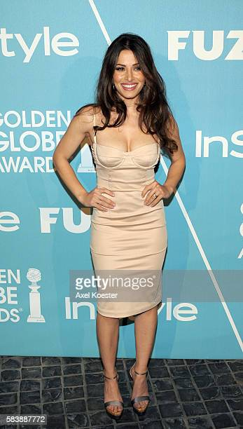Sarah Shahi arrives to the Hollywood Press Association and InStyle First Party of the 2011 Golden Globe Award Season at Cecconi's in West Hollywood...