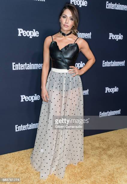 Sarah Shahi of Reverie attends Entertainment Weekly People New York Upfronts at 849 6th Ave on May 15 2017 in New York City