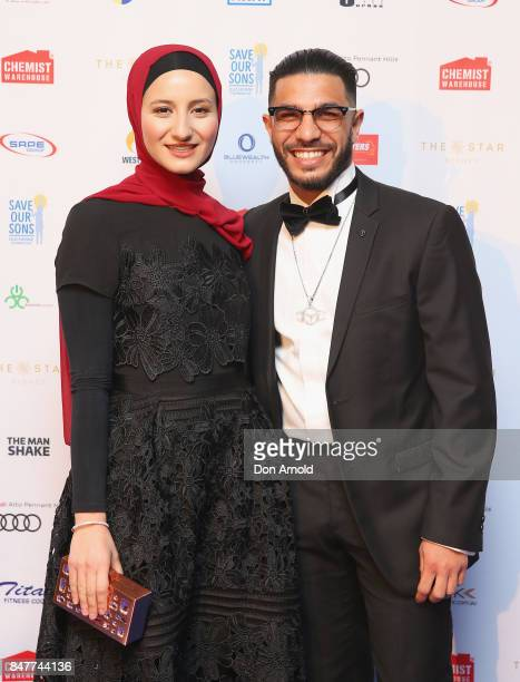 Sarah Shami and Billy Dib attend the Save Our Sons Gala at The Star on September 16 2017 in Sydney Australia