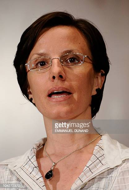 Sarah Shourd the American hiker released from detention in Iran after 410 days addresses a press conference in New York on September 19 2010 Fellow...