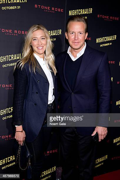 Sarah Siciliano and anchor Chris Wragge attend the 'Nightcrawler' New York Premiere at AMC Lincoln Square Theater on October 27 2014 in New York City