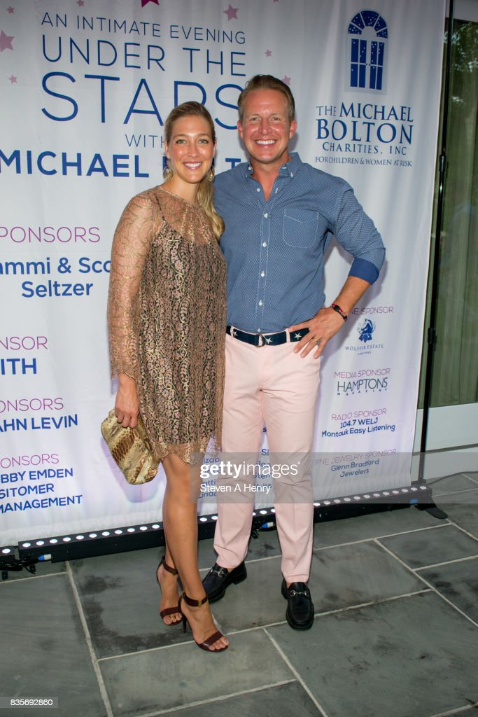 Sarah Siciliano and Chris Wragge attend An Intimate Evening Under The Stars With Michael Bolton at Private Residence on August 19, 2017 in Bridgehampton, New York.