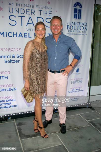 Sarah Siciliano and Chris Wragge attend An Intimate Evening Under The Stars With Michael Bolton at Private Residence on August 19 2017 in...