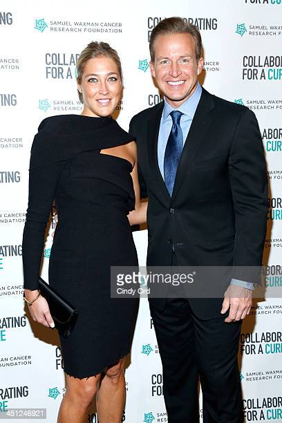 Sarah Siciliano and news anchor Chris Wragge attend Collaborating For A Cure 16th annual benefit dinner and auction at Park Avenue Armory on November...