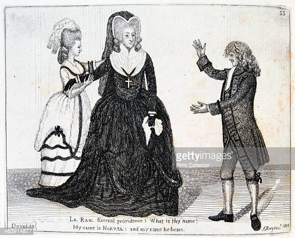 Sarah Siddons English actress 1784 Mrs Siddons as Lady Randolph in John Home's tragedy Douglas at the Theatre Royal Edinburgh Scotland June 1784