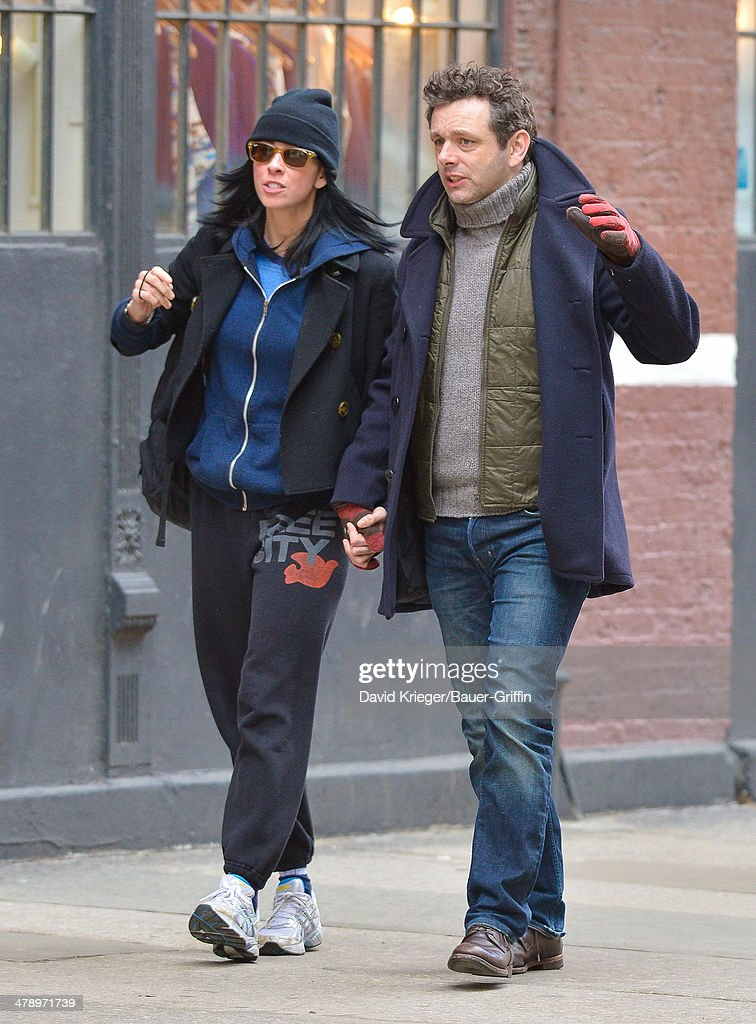 Sarah Silverman and Michael Sheen are seen on March 15, 2014 in New York City.