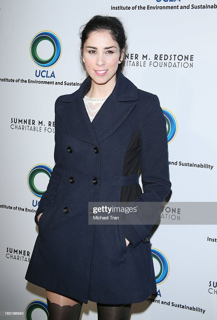 <a gi-track='captionPersonalityLinkClicked' href=/galleries/search?phrase=Sarah+Silverman&family=editorial&specificpeople=241299 ng-click='$event.stopPropagation()'>Sarah Silverman</a> arrives at the 2nd annual an Evening of Environmental Excellence Gala held at a private residence on March 5, 2013 in Beverly Hills, California.
