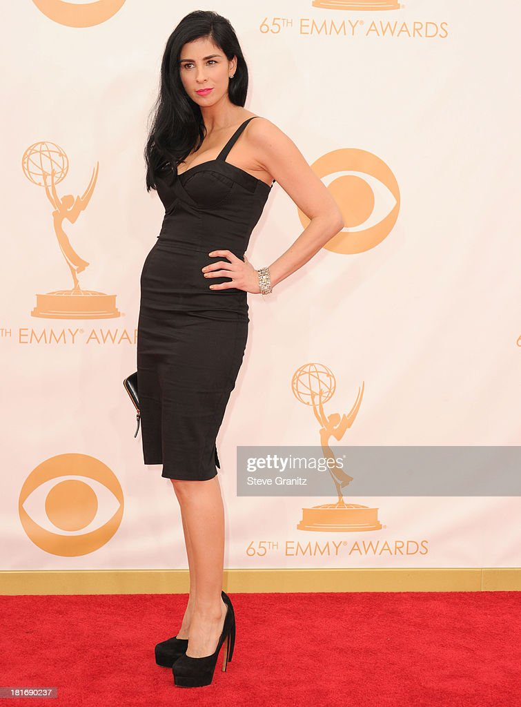 Sarah Silverman arrives at the 65th Annual Primetime Emmy Awards at Nokia Theatre L.A. Live on September 22, 2013 in Los Angeles, California.