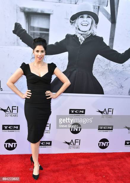 Sarah Silverman arrives at the AFI Life Achievement Award Gala Tribute To Diane Keaton on June 8 2017 in Hollywood California
