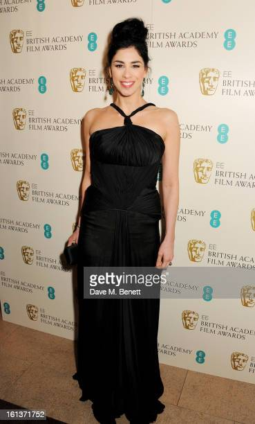 Sarah Silverman arrives at the EE British Academy Film Awards at the Royal Opera House on February 10 2013 in London England