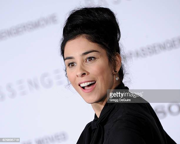 Sarah Silverman arrives at the premiere of Columbia Pictures' 'Passengers' at Regency Village Theatre on December 14 2016 in Westwood California