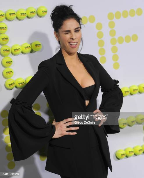 Sarah Silverman arrives at the premiere of Fox Searchlight Pictures' 'Battle Of The Sexes' at Regency Village Theatre on September 16 2017 in...