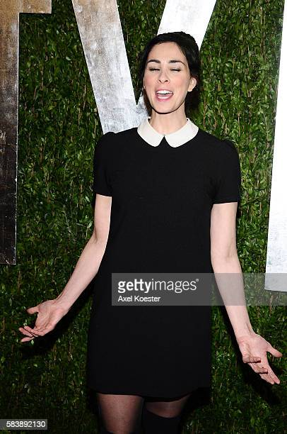 Sarah Silverman arrives to the Vanity Fair after party of the 85th Academy Awards hosted by Graydon Carter at the Sunset Tower Hotel Sunday evening