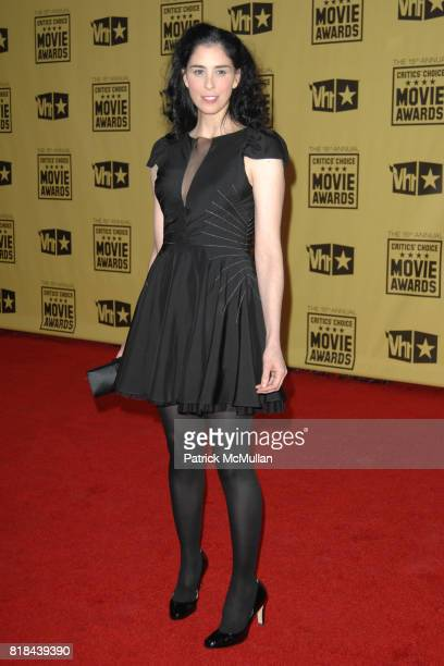 Sarah Silverman attends 2010 Critics Choice Awards at The Palladium on January 15 2010 in Hollywood California