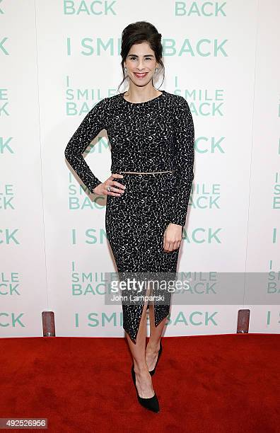 Sarah Silverman attends 'I Smile Back' New York premiere at Museum of Modern Art on October 13 2015 in New York City