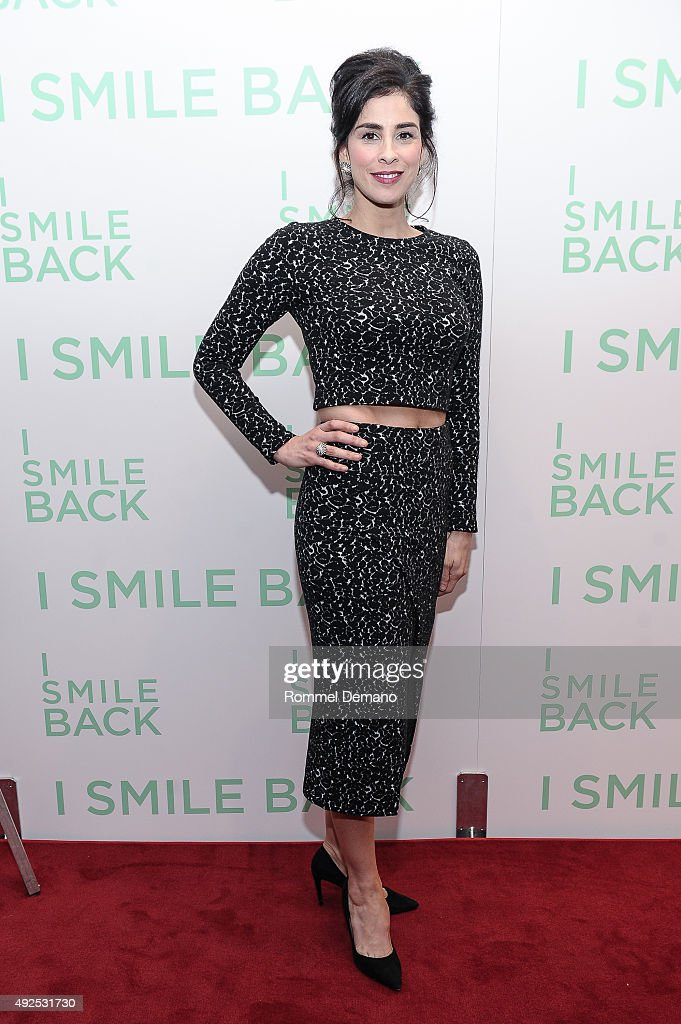 <a gi-track='captionPersonalityLinkClicked' href=/galleries/search?phrase=Sarah+Silverman&family=editorial&specificpeople=241299 ng-click='$event.stopPropagation()'>Sarah Silverman</a> attends 'I Smile Back' New York Premiere at Museum of Modern Art on October 13, 2015 in New York City.