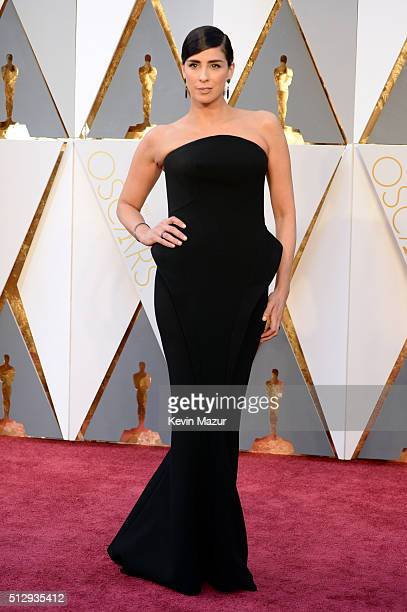 Sarah Silverman attends the 88th Annual Academy Awards at Hollywood Highland Center on February 28 2016 in Hollywood California