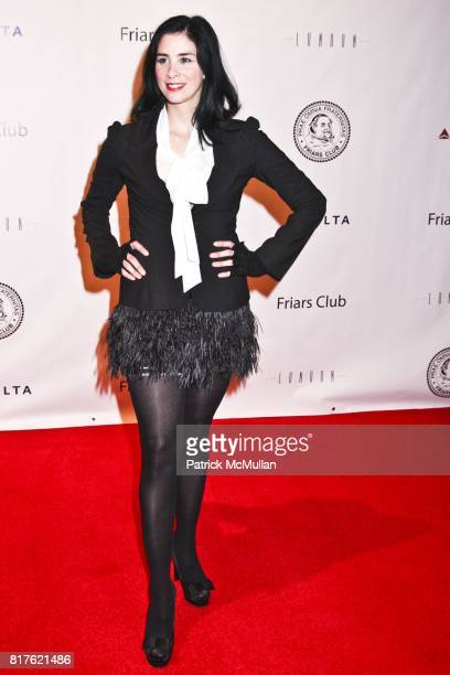 Sarah Silverman attends THE NEW YORK FRIARS CLUB ROAST OF QUENTIN TARANTINO at Friars Club on December 1 2010 in New York City
