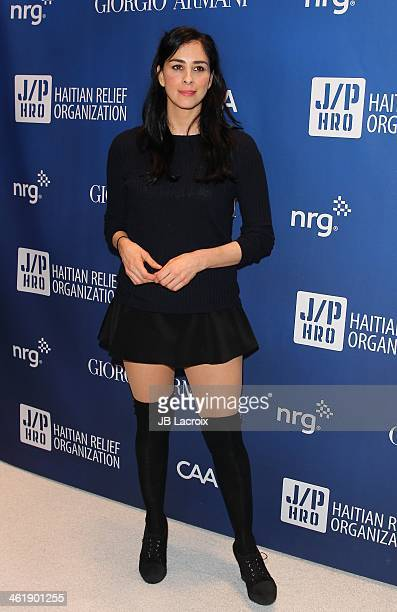 Sarah Silverman attends the Sean Penn 3rd Annual Help Haiti Home Gala Benefiting J/P HRO Presented By Giorgio Armani at Montage Beverly Hills on...