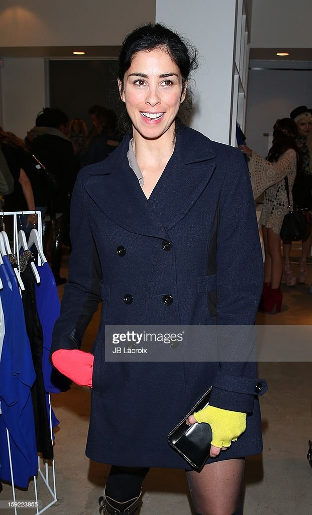 Sarah Silverman attends the TopMen Exclusive Pop Up Shopping Event at TopShop on January 9, 2013 in Los Angeles, California.