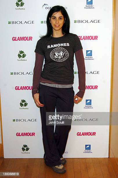 Sarah Silverman during Glamour Presents Biolage Golden Globe Style Lounge Day 2 at L'Ermitage Hotel in Beverly Hills California United States