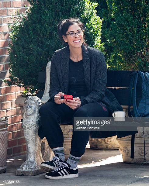 Sarah Silverman is seen at Bowery Hotel on October 15 2015 in New York City