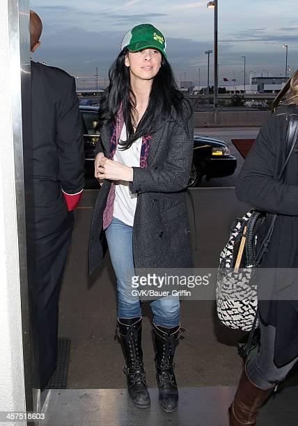 Sarah Silverman is seen at Los Angeles International airport on December 17 2013 in Los Angeles California