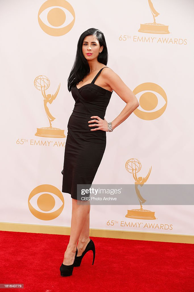 <a gi-track='captionPersonalityLinkClicked' href=/galleries/search?phrase=Sarah+Silverman&family=editorial&specificpeople=241299 ng-click='$event.stopPropagation()'>Sarah Silverman</a> on the Red Carpet for the 65th Primetime Emmy Awards, which will be broadcast live across the country 8:00-11:00 PM ET/ 5:00-8:00 PM PT from NOKIA Theater L.A. LIVE in Los Angeles, Calif., on Sunday, Sept. 22 on the CBS Television Network.