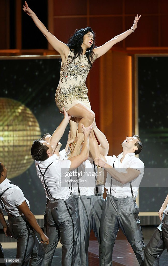 Sarah Silverman performs onstage during the 65th Annual Primetime Emmy Awards held at Nokia Theatre LA Live on September 22 2013 in Los Angeles...