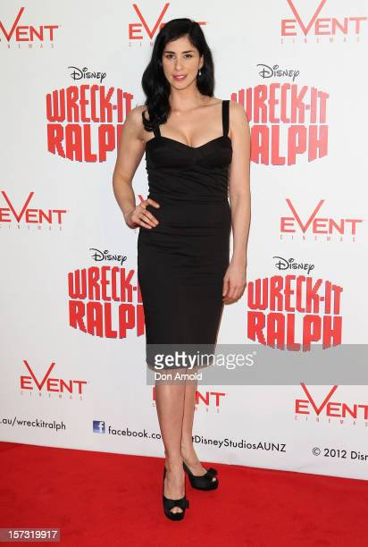 Sarah Silverman poses at the 'Wreck It Ralph' Australian premiere on December 2 2012 in Sydney Australia