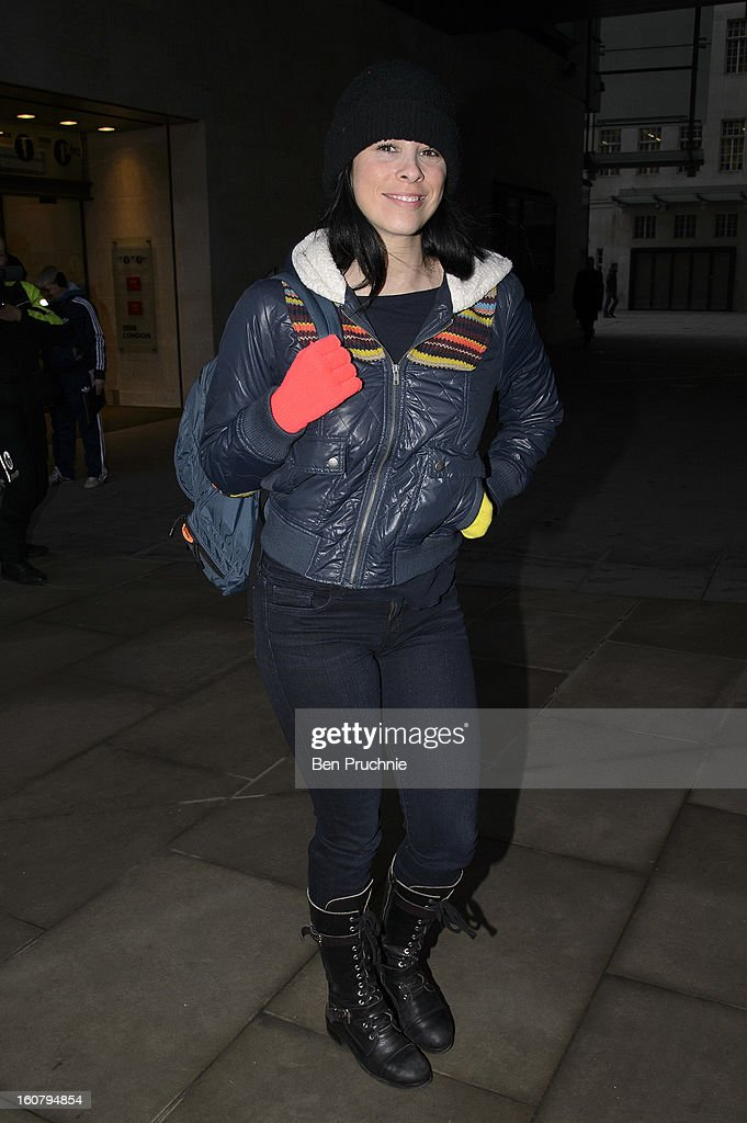 <a gi-track='captionPersonalityLinkClicked' href=/galleries/search?phrase=Sarah+Silverman&family=editorial&specificpeople=241299 ng-click='$event.stopPropagation()'>Sarah Silverman</a> sighted at BBC Radio on February 6, 2013 in London, England.