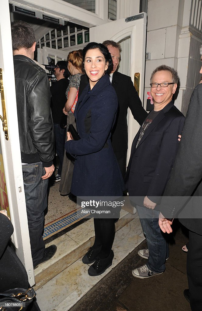 <a gi-track='captionPersonalityLinkClicked' href=/galleries/search?phrase=Sarah+Silverman&family=editorial&specificpeople=241299 ng-click='$event.stopPropagation()'>Sarah Silverman</a> sighting at the Electric Cinema on February 5, 2013 in London, England.
