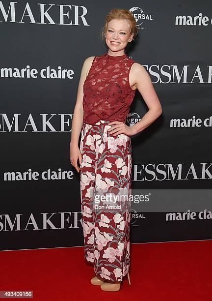 Sarah Snook arrives ahead of the red carpet screening of 'The Dressmaker' on October 20 2015 in Sydney Australia