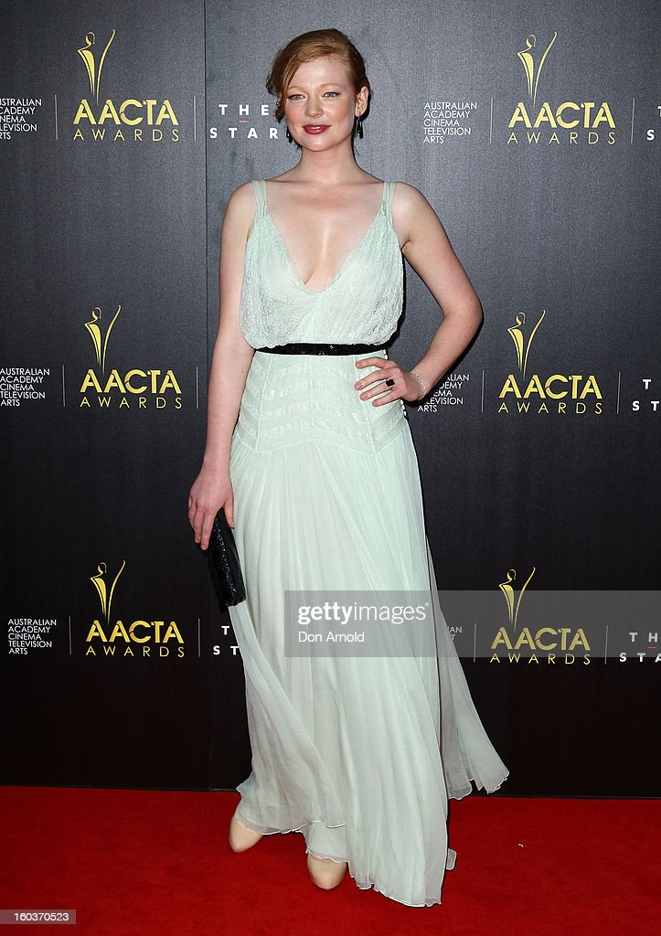 Sarah Snook arrives for the 2nd Annual AACTA Awards at The Star on January 30, 2013 in Sydney, Australia.