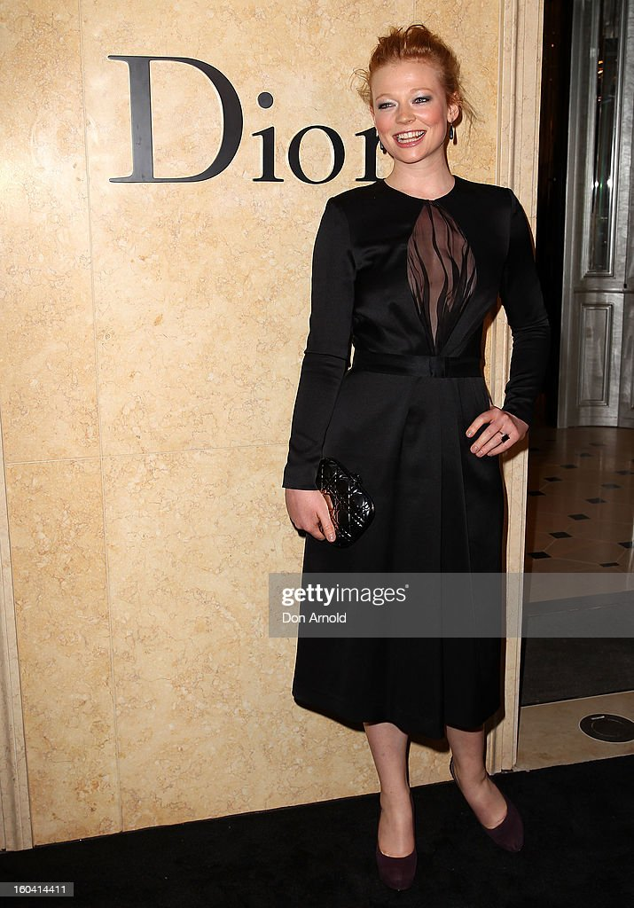 Sarah Snook poses at the opening of the Christan Dior Sydney store on January 31, 2013 in Sydney, Australia.