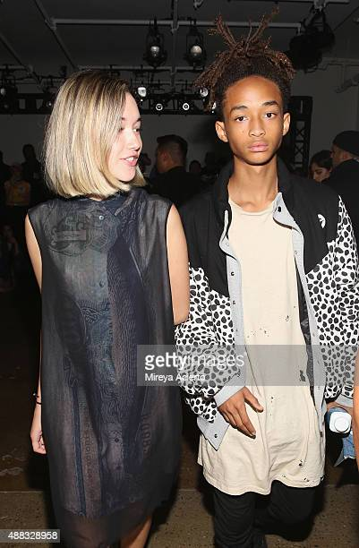 Sarah Snyder and Jaden Smith attend the Gypsy Sport fashion show during Spring 2016 MADE Fashion Week at Milk Studios on September 15 2015 in New...
