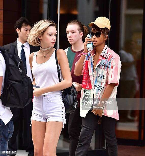 Sarah Snyder and Jaden Smith seen on the streets of Manhattan on July 24 2016 in New York City
